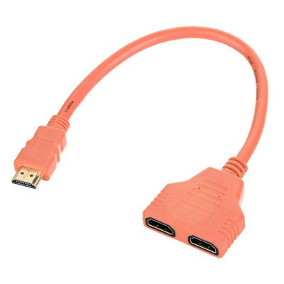 Maikou 30cm 1 Male to 2 Female HDMI Extendable Cable