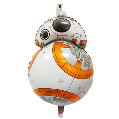 BB - 8 Robot Shape Inflating Foil Balloon Auto-Seal Party Birthday Decor Toy for Kid / Adult
