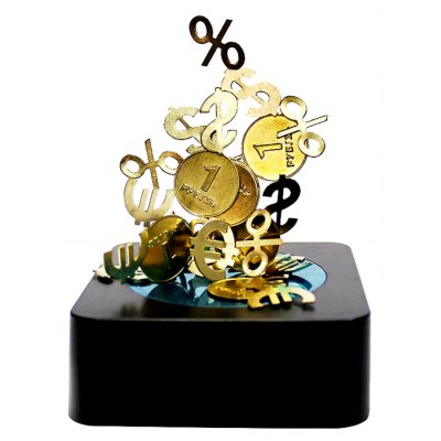 Coin Magnetic Sculpture Kit Ornament Decompression Plaything Puzzle Toy for Children