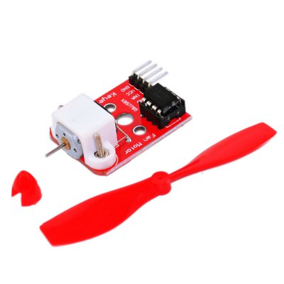 2 Pack Keyestudio L9110 Fan Module with PropellerOther Accessories<br>2 Pack Keyestudio L9110 Fan Module with Propeller<br><br>Brand: Keyestudio<br>Model: L9110<br>Color: Red<br>Connectors: 4-Pin<br>Product weight: 0.012 kg<br>Package weight: 0.035 kg<br>Product Size(L x W x H): 8.00 x 7.00 x 1.50 cm / 3.15 x 2.76 x 0.59 inches<br>Package Size(L x W x H): 10.00 x 8.00 x 2.00 cm / 3.94 x 3.15 x 0.79 inches<br>Package Contents: 2 x Module, 2 x Propeller
