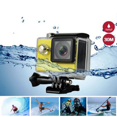 H9 Ultra HD 4K Action CameraAction Cameras<br>H9 Ultra HD 4K Action Camera<br><br>Model: H9<br>Type: Sports Camera<br>Chipset Name: Sunplus<br>Chipset: Sunplus 6350<br>Max External Card Supported: TF 64G (not included)<br>Class Rating Requirements: Class 10 or Above<br>Screen size: 2.0inch<br>Screen type: LCD<br>Screen resolution: 320x240<br>Battery Type: Removable<br>Capacity: 1050mAh<br>Charge way: USB charge by PC<br>Working Time: 1.5 hours (1080P at 30fps), 1 hour (1080P at 60fps), 40 minutes (4K at 10fps)<br>Wide Angle: 170 degree wide angle<br>Camera Pixel : 4.0 megapixel<br>Decode Format: H.264<br>Video format: MOV<br>Video Resolution: 1080P (1920 x 1080),2.7K (2704 x 1524),4K (4096 x 2160)<br>Video Output : HDMI<br>Image Format : JPEG<br>Exposure Compensation: +0.3,+0.7,+1,+1.3,+1.7,+2,-0.3,-0.7,-1,-1.3,-1.7,-2,0<br>White Balance Mode: Auto<br>Scene: Auto<br>Microphone: N/A<br>WIFI: Yes<br>WiFi Function: Image Transmission,Remote Control,Settings,Sync and Sharing Albums<br>WiFi Distance : 10m<br>Waterproof: Yes<br>Water Resistant: 30m underwater<br>Loop-cycle Recording : Yes<br>Loop-cycle Recording Time: 15min,OFF<br>Night vision : No<br>HDMI Output: Yes<br>Time Stamp: Yes<br>Camera Timer: No<br>Time lapse: Yes<br>Auto Focusing: No<br>Anti-shake: No<br>Aerial Photography: No<br>Language: Cesky,Dutch,English,French,German,Italian,Japanese,Korean,Polski,Portuguese,Russian,Simplified Chinese,Spanish,Turkish<br>Frequency: 50Hz,60Hz,Auto<br>Product weight: 0.0650 kg<br>Package weight: 0.5700 kg<br>Product size (L x W x H): 6.00 x 3.20 x 4.10 cm / 2.36 x 1.26 x 1.61 inches<br>Package size (L x W x H): 27.00 x 18.00 x 7.00 cm / 10.63 x 7.09 x 2.76 inches<br>Package Contents: 1 x H9 4K Action Camera, 1 x Waterproof Housing, 1 x Handlebar Pole Mount, 1 x Base Mount with Long Screw, 1 x J-Shaped Mount, 1 x Tripod Mount Adapter, 3 x Connector with Screw, 1 x Mount Adapter, 1
