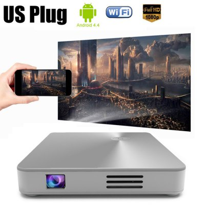 MDI M1 DLP Projector Android 4.4Projectors<br>MDI M1 DLP Projector Android 4.4<br><br>Audio Formats: MP3 / WMA / AAC<br>Battery Capacity: 3500mAh<br>Battery Type: Li-ion Battery<br>Bluetooth: Bluetooth 4.0<br>Brand: MDI<br>Brightness: 150 Lumens<br>Color: Golden,Silver<br>Compatible with: iPad<br>Contrast Ratio: 3000:1<br>Display type: DLP<br>Features: Wireless<br>Function: WiFi, Bluetooth<br>Image Scale: 16:9,4:3<br>Image Size: 8 - 112 inch<br>Interface: VGA, TF Card Slot, RJ45, HDMI, DC, AV, USB<br>Lamp: LED<br>Lamp Power: 12W<br>Model: M1<br>Native Resolution: 854 x 480<br>Package Contents: 1 x MDI M1 DLP Pocket Projector, 1 x Remote Control, 1 x HDMI Cable, 1 x Bracket, 1 x English Instruction Manual<br>Package size (L x W x H): 16.90 x 13.00 x 8.30 cm / 6.65 x 5.12 x 3.27 inches<br>Package weight: 0.7600 kg<br>Picture Formats: JPEG / BMP / PNG<br>Power Supply: 5V<br>Product size (L x W x H): 11.00 x 9.50 x 1.60 cm / 4.33 x 3.74 x 0.63 inches<br>Product weight: 0.1790 kg<br>Projection Distance: 0.2M - 3M<br>Resolution Support: 1080P<br>Throw Ration: 1.19:1 (distance / width)<br>Video Formats: RM / RMVB / AVI / MKV / WMV / MP4 / VOB<br>WIFI: 802.11b/g/n