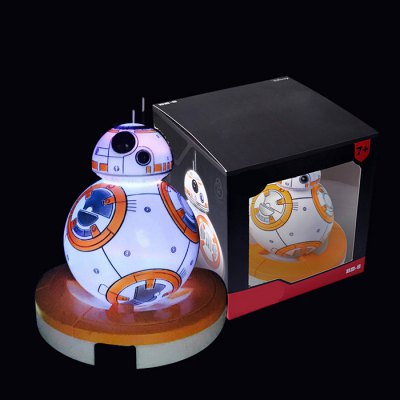 Night Light Vinyl BB - 8 RC Robot Anime Figure Model LED Seven Color Change Birthday GiftMovies &amp; TV Action Figures<br>Night Light Vinyl BB - 8 RC Robot Anime Figure Model LED Seven Color Change Birthday Gift<br><br>Age: 7 Years +<br>Materials: Vinyl<br>Theme: Movie and TV<br>Gender: Unisex<br>Completeness: Finished Goods<br>Stem From: Japan<br>Product weight: 0.180 kg<br>Package weight: 0.310 kg<br>Product size: 12.00 x 8.00 x 8.00 cm / 4.72 x 3.15 x 3.15 inches<br>Package size: 14.00 x 13.50 x 18.00 cm / 5.51 x 5.31 x 7.09 inches<br>Package Contents: 1 x BB - 8 RC Robot Decoration Toy