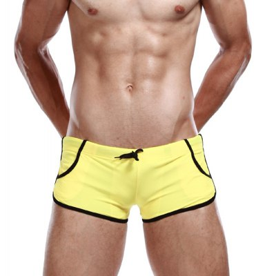 SEOBEAN Draw Cord Swimming Boxers for Men