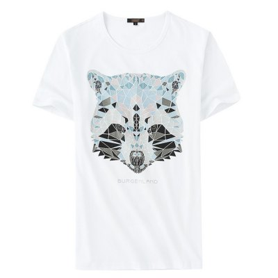 Legend Paul Men Animal Pattern Short Sleeves T-shirtMens Short Sleeve Tees<br>Legend Paul Men Animal Pattern Short Sleeves T-shirt<br><br>Brand: Legend Paul<br>Style: Casual,Fashion,Sport<br>Neckline: Round Neck<br>Sleeve Length: Short Sleeves<br>Fabric Type: Cotton<br>Season: Autumn,Spring,Summer<br>Size: L,XL,XXL,XXXL<br>Pattern Type: Animal<br>Color: Black,Gray,White<br>Product weight: 0.400 kg<br>Package weight: 0.450 kg<br>Package size: 25.00 x 14.00 x 2.00 cm / 9.84 x 5.51 x 0.79 inches<br>Package Content: 1 x Legend Paul T-shirt