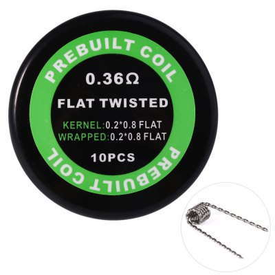 Prebuilt Kanthal A1 Flat Twisted Coil