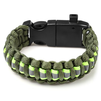 5 Functions in 1 Outdoor Survival Rope Emergency Bracelet