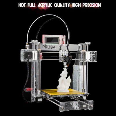 Sunhokey PRUSA I3 3D Printer DIY Kit3D Printers, 3D Printer Kits<br>Sunhokey PRUSA I3 3D Printer DIY Kit<br><br>Brand: Sunhokey<br>Model: PRUSA I3<br>Frame material: Acrylic plate<br>Platform board: Aluminum Base<br>Nozzle quantity: Single<br>Nozzle diameter: 0.4mm<br>Product forming size: 200 x 200mm x 180mm<br>Memory card offline print: SD card<br>LCD Screen: Yes<br>Supporting material: ABS,PLA<br>Material diameter: 1.75mm<br>File format: G-code,STL<br>XY-axis positioning accuracy: 0.012mm<br>Voltage: 12V<br>Packing Type: unassembled packing<br>Product weight: 11.300 kg<br>Package weight: 12.368 kg<br>Product size: 50.00 x 52.00 x 46.00 cm / 19.69 x 20.47 x 18.11 inches<br>Package size: 59.00 x 48.00 x 25.00 cm / 23.23 x 18.9 x 9.84 inches