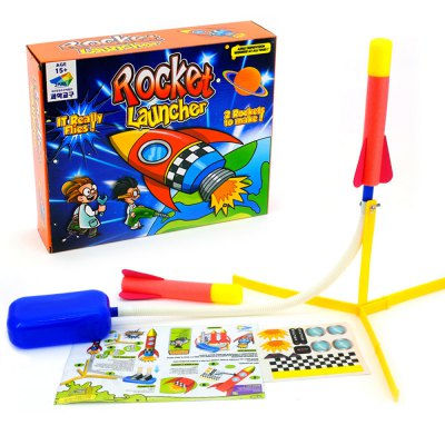 Foot Tread Rocket Launcher Assembly Toy Set