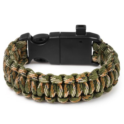 5 Functions in 1 Outdoor Survival Rope Emergency BraceletSurvival Bracelet<br>5 Functions in 1 Outdoor Survival Rope Emergency Bracelet<br><br>Best Use: Adventures,Backpacking,Camping,Climbing,First Aid,Hiking,Lashings,Mountaineering<br>Buckle Material: Plastic<br>Extra Functions: Compass, Fire Starter, Whistle<br>Package Contents: 1 x Outdoor Survival Multifunctional Bracelet<br>Package Dimension: 26.00 x 4.00 x 2.00 cm / 10.24 x 1.57 x 0.79 inches<br>Package weight: 0.060 kg<br>Product Dimension: 25.50 x 3.20 x 1.00 cm / 10.04 x 1.26 x 0.39 inches<br>Product weight: 0.029 kg<br>Secure Buckle Type: Snap Buckle