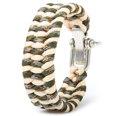 Outdoor Survival Emergency Parachute Cord BraceletSurvival Bracelet<br>Outdoor Survival Emergency Parachute Cord Bracelet<br><br>Best Use: Adventures,Backpacking,Camping,Climbing,First Aid,Hiking,Lashings,Mountaineering<br>Buckle Material: Stainless Steel<br>Material: Parachute Cord<br>Package Contents: 1 x Parachute Cord Bracelet<br>Package Dimension: 25.00 x 3.00 x 1.00 cm / 9.84 x 1.18 x 0.39 inches<br>Package weight: 0.067 kg<br>Product Dimension: 24.00 x 2.50 x 0.80 cm / 9.45 x 0.98 x 0.31 inches<br>Product weight: 0.036 kg<br>Secure Buckle Type: Stainless Steel Shackle