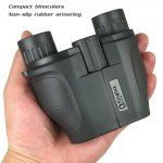 Kinglux BT5572 10 x 25 Porro BK7 Prism HD Binoculars Compact Multi-coated with Center Focus for Travel