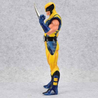 PVC Hero Action Figure Anime Character Model with Metal Claw Home Office Decor - 11 inch