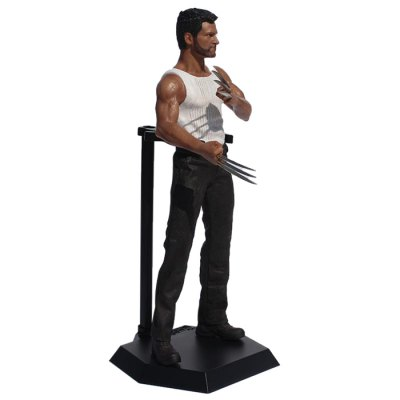 Hero Action Figure Anime Character Model with Metal Claw Home Office Decor - 15.7 inch