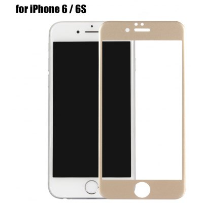 Carbon Fiber Tempered Glass Protective Screen Film for iPhone 6   6S