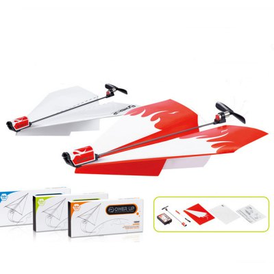 DIY Paper Plane Folding Power Up Driven Model Educational Toy for Kid Child