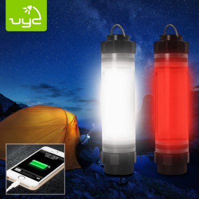 Uyc Q7M Rechargeable Handy LED Camping LightOutdoor Lights<br>Uyc Q7M Rechargeable Handy LED Camping Light<br><br>Available Light Color: Red,White<br>Battery Included or Not: Yes<br>Battery Quantity: Built-in 2600mAh Li-ion battery<br>Battery Type: Other<br>Body Material: PC<br>Brand: Uyc<br>Color Temperature: 5700K<br>Emitters: Other<br>Emitters Quantity: Other<br>Feature: Water Resistant, Rechargeable, Portable, Magnetic, Adjustable focus, Adjustable brightness, Lightweight<br>Flashlight size: Mid size<br>Flashlight Type: Handheld,Tactical<br>Function: Walking, Seeking Survival, Search, Night Riding, Military and Tactical, Camping, Emergency, Exploring, Fishing, Hiking, Hunting<br>Lens: Plastic Lens<br>Light color: Red light, White light<br>Light Modes: High,Low<br>Lumens Range: 1-200Lumens<br>Luminous Flux: 100LM<br>Package Contents: 1 x LED Camping Light, 1 x USB Cable, 1 x English Manual<br>Package size (L x W x H): 15.30 x 4.80 x 4.60 cm / 6.02 x 1.89 x 1.81 inches<br>Package weight: 0.1850 kg<br>Power Source: Battery<br>Product size (L x W x H): 14.30 x 3.60 x 3.60 cm / 5.63 x 1.42 x 1.42 inches<br>Product weight: 0.1300 kg<br>Rechargeable: Yes<br>Waterproof Standard: IP-68 Standard Water-resistant