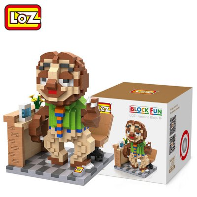 LOZ 690Pcs ABS Cartoon Animal Image Building Block Educational Decoration Toy for Spatial Thinking