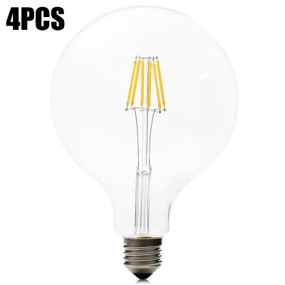 4pcs BRELONG 6W G125 E27 650LM 6 x COB LED Filament Light