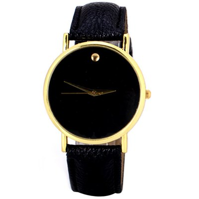 Fashion Women Swiss Watch Analog with Round Dial Leather Watch BandWomens Watches<br>Fashion Women Swiss Watch Analog with Round Dial Leather Watch Band<br><br>Watches categories: Female table<br>Available Color: Black,Brown,White<br>Style: Big dial,Fashion&amp;Casual<br>Movement type: Quartz watch<br>Shape of the dial: Round<br>Display type: Analog<br>Case material: Stainless Steel<br>Band material: Leather<br>Clasp type: Pin buckle<br>Band color: Black<br>The dial thickness: 0.8 cm / 0.3 inch<br>The dial diameter: 3.8 cm / 1.5 inch<br>The band width: 1.9 cm / 0.7 inch<br>Product weight: 0.030 kg<br>Package weight: 0.080 kg<br>Product size (L x W x H): 23.70 x 3.80 x 0.80 cm / 9.33 x 1.5 x 0.31 inches<br>Package size (L x W x H): 24.70 x 4.80 x 1.80 cm / 9.72 x 1.89 x 0.71 inches<br>Package Contents: 1 x Watch
