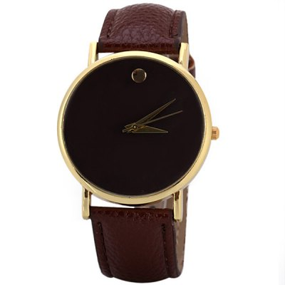 Fashion Women Swiss Watch Analog with Round Dial Leather Watch Band
