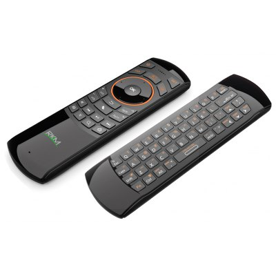 Rikomagic RKM MK705 3 in 1 2.4GHz Portable Wireless Air Mouse QWERTY Keyboard IR Remote Combo for Emails Chat Games