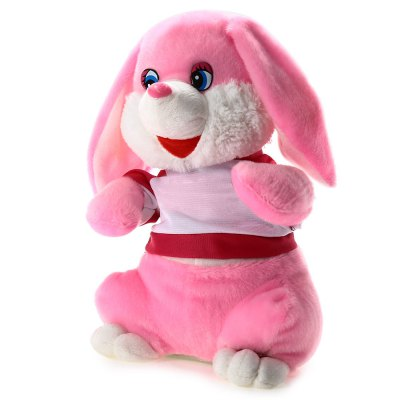 Rabbit Style Musical Shaking Head Plush Toy - 14.5 inch