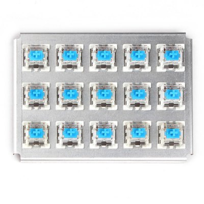 15PCS CIY Mechanical Keyboard Switch with Body Shaft