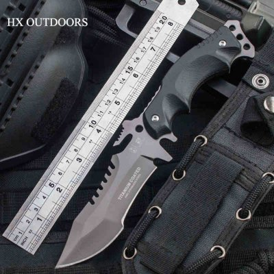 HX OUTDOORS D - 123 Tactical Fixed Edge Knife