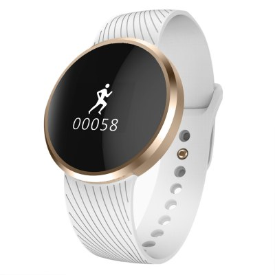 MiFone L58 Smart WatchSmart Watches<br>MiFone L58 Smart Watch<br><br>Alert type: Vibration<br>Anti-lost: No<br>Available Color: Black,White<br>Band material: Fluoroelastomer<br>Band size: 22.8 x 1.8 cm / 8.98 x 0.71 inches<br>Battery  Capacity: 120mAh<br>Bluetooth calling: Callers name display,Phone call reminder<br>Bluetooth Version: Bluetooth 4.0<br>Brand: MIFONE<br>Case material: Aluminium<br>Charging Time: About 2hours<br>Compatability: Android 4.0 - 6.0 and iOS 7.0 - 9.3 system<br>Compatible OS: Android, IOS<br>Dial size: 4 x 0.68 cm / 1.57 x 0.27 inches<br>Health tracker: Pedometer<br>IP rating: IP67<br>Language: English,Simplified Chinese<br>Locking screen : 1<br>Messaging: Message reminder<br>Notification: Yes<br>Notification type: Wechat<br>Operating mode: Touch Screen<br>Other Function: Alarm<br>Package Contents: 1 x MiFone L58 Smart Watch, 1 x Magnetic Buckle Charging Cable, 1 x Chinese and English User Manual<br>Package size (L x W x H): 8.50 x 8.50 x 4.50 cm / 3.35 x 3.35 x 1.77 inches<br>Package weight: 0.1840 kg<br>People: Female table,Male table<br>Product size (L x W x H): 22.80 x 4.00 x 0.68 cm / 8.98 x 1.57 x 0.27 inches<br>Product weight: 0.0300 kg<br>RAM: 64MB<br>Remote control function: Remote Camera<br>ROM: 128MB<br>Screen: OLED<br>Screen resolution: 64 x 48<br>Screen size: 0.66 inch<br>Shape of the dial: Round<br>Standby time: About 30 Days<br>Type of battery: Li-polymer Battery<br>Waterproof: Yes