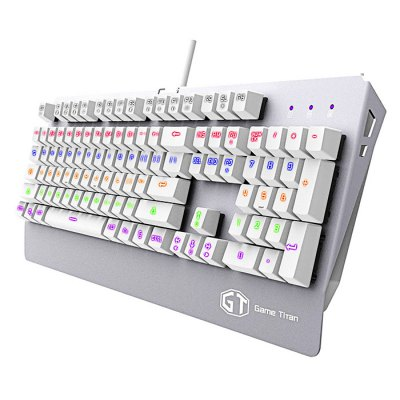 Delux KM06 Wired USB Gaming KeyboardKeyboards<br>Delux KM06 Wired USB Gaming Keyboard<br><br>Brand: Delux<br>Color: White<br>Connection: USB2.0<br>Features: Gaming<br>Interface: Wired<br>Model: KM06<br>Package Contents: 1 x Delux KM06 Wired Gaming Keyboard, 1 x Chinese Manual<br>Package size (L x W x H): 48.00 x 18.12 x 4.85 cm / 18.9 x 7.13 x 1.91 inches<br>Package weight: 1.340 kg<br>Power Supply: USB Port<br>Product size (L x W x H): 45.60 x 17.12 x 3.85 cm / 17.95 x 6.74 x 1.52 inches<br>Product weight: 1.230 kg<br>Suitable for: Andriod TV Box, Android TV, Google TV Box, HTPC, PC<br>System support: Windows 2000, Windows Vista, Windows 2003, Windows 7, Windows 8, Windows 95, Windows 98, Windows 98SE, Windows 10, Windows XP, Windows<br>Type: Keyboard
