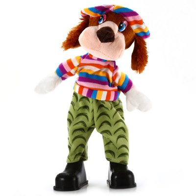 15 inch Dog Style Musical Shaking Head Plush Toy Stuffed Doll Cartoon Product Children Present