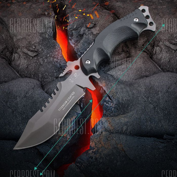 HX OUTDOORS D – 123 Tactical Fixed Edge Knife