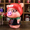 Cute Saving Pot Money Box Glasses Pig Model Toy for Kid Child for sale