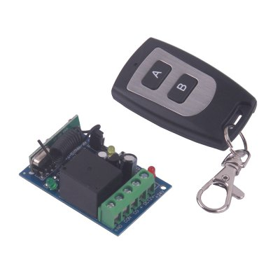 DC12V Single Channel Wireless Remote Control Switch - 2 Buttons