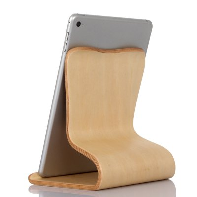 LeeHUR Portable Tablet Holder Stand Wooden BracketiPad Mounts &amp; Holders<br>LeeHUR Portable Tablet Holder Stand Wooden Bracket<br><br>Type: Desktop,Dock,Stand<br>Color: Beige,Brown<br>Product weight: 0.173 kg<br>Package weight: 0.295 kg<br>Product size (L x W x H): 16.50 x 15.00 x 15.00 cm / 6.5 x 5.91 x 5.91 inches<br>Package size (L x W x H): 17.00 x 17.00 x 17.00 cm / 6.69 x 6.69 x 6.69 inches<br>Package Contents: 1 x Bracket