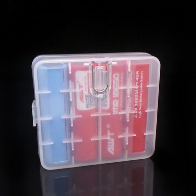 Practical Propene Polymer Battery CaseAccessories<br>Practical Propene Polymer Battery Case<br><br>Accessories type: Battery Storage Box<br>Available Color: Blue,Purple,Transparent,Yellow<br>Material: Plastic<br>Package Contents: 1 x Battery Case<br>Package size (L x W x H): 7.50 x 9.50 x 4.00 cm / 2.95 x 3.74 x 1.57 inches<br>Package weight: 0.045 kg<br>Product size (L x W x H): 5.50 x 5.00 x 2.30 cm / 2.17 x 1.97 x 0.91 inches<br>Product weight: 0.027 kg<br>Type: Electronic Cigarettes Accessories