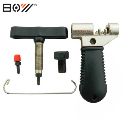 BOY 7024F Bicycle Chain BreakerBike Tools<br>BOY 7024F Bicycle Chain Breaker<br><br>Brand: Boy<br>Color: Black<br>Package Contents: 1 x BOY 7024F Bicycle Chain Breaker<br>Package Dimension: 12.00 x 7.00 x 3.00 cm / 4.72 x 2.76 x 1.18 inches<br>Package weight: 0.280 kg<br>Product Dimension: 8.60 x 6.50 x 2.80 cm / 3.39 x 2.56 x 1.1 inches<br>Product weight: 0.153 kg<br>Type: Chain Breaker