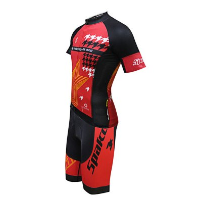 SPAKCT S16C18 / S16T18 Cycling SuitCycling Clothings<br>SPAKCT S16C18 / S16T18 Cycling Suit<br><br>Type: Short Sleeves Cycling Suit<br>Suitable Crowds: Men<br>Size: L,M,XL,XXL<br>Feature: Breathable,High elasticity,Quick Dry<br>Product weight: 0.379 kg<br>Package weight: 0.420 kg<br>Package size (L x W x H): 32.00 x 25.00 x 7.00 cm / 12.6 x 9.84 x 2.76 inches<br>Package Contents: 1 x SPAKCT S16C18 / S16T18 Short Sleeve Tops, 1 x Short Pants