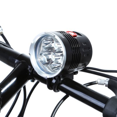DECAKER Bicycle Light FlashlightBike Lights<br>DECAKER Bicycle Light Flashlight<br><br>Best Use: Backpacking,Camping,Climbing,Hiking<br>Brand: Decaker<br>Color: Black<br>Features: Superbright, Low Power Consumption, Easy to Install<br>LED Quantity: 4 LED<br>Luminance: 2000 lumens<br>Material: Aluminum Alloy<br>Package Contents: 1 x EDCAKER Bicycle Light, 1 x Power Adapter, 6 x 18650 Lithium Battery, 2 x Rubber Ring, 1 x Battery Bag<br>Package Dimension: 24.00 x 8.50 x 8.50 cm / 9.45 x 3.35 x 3.35 inches<br>Placement: Handlebar<br>Product Dimension: 6.70 x 5.80 x 5.80 cm / 2.64 x 2.28 x 2.28 inches<br>Product weight: 0.242 kg<br>Suitable for: Fixed Gear Bicycle, Mountain Bicycle, Road Bike, Touring Bicycle, Cross-Country Cycling, Electric Bicycle, Motorcycle<br>Type: Front Light