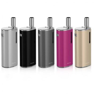 Original Eleaf iNano E Cigarette Mod KitMod kits<br>Original Eleaf iNano E Cigarette Mod Kit<br><br>Brand: Eleaf<br>Type: Mod Kit<br>Model: iNano<br>Material: Glass,Stainless Steel<br>Power Supply: Built-in rechargeable battery<br>Battery Capacity: 650mAh<br>Connection Threading of Battery: 510<br>Atomizer Type: Clearomizer,Tank Atomizer<br>Atomizer Capacity: 0.8ml<br>Atomizer Resistance: 1.2ohm<br>Connection Threading of Atomizer: 510<br>Charge way: USB<br>Charge time: 2 hours<br>Available color: Black,Gold,Gray,Pink,Silver<br>Product weight: 0.120 kg<br>Package weight: 0.220 kg<br>Product size (L x W x H): 2.90 x 1.95 x 8.25 cm / 1.14 x 0.77 x 3.25 inches<br>Package size (L x W x H): 11.50 x 5.80 x 4.50 cm / 4.53 x 2.28 x 1.77 inches<br>Package Contents: 1 x iNano Atomizer ( Pre-built 1.2ohm Coil Head ), 1 x iNano Mod, 1 x iNano Connector, 1 x USB Cable, 1 x English User Manual