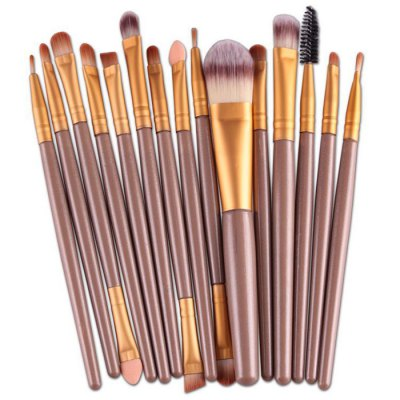 MAANGE 15PCS Makeup Brushes Portable Cosmetics Accessory