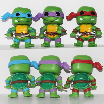 7.5cm 6PCs Classic Turtle Style Kid Child Model Toy