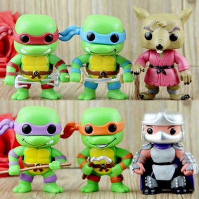 7.5cm 6PCs Movie Figure Turtle Style Model Toy