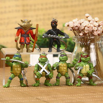 5cm 6PCs Movie Figure Turtle Style Key Chain