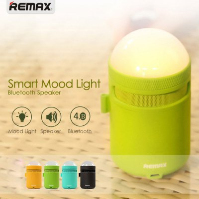 REMAX RB - MM LED Night LightSmart Lighting<br>REMAX RB - MM LED Night Light<br><br>Available Light Color: RGB<br>Body Color: Blue,Gray,Green,Yellow<br>Brand: REMAX<br>Features: APP Control, Bluetooth 4.0, Loudspeaker<br>Function: Studio and Exhibition Lighting, Home Lighting, For Office and Teaching, Commercial Lighting<br>Holder: Other<br>Output Power: 3W<br>Package Contents: 1 x REMAX RB-MM LED Bluetooth Speaker Lamp, 1 x USB Cable, 1 x English Manual<br>Package size (L x W x H): 17.00 x 8.00 x 8.00 cm / 6.69 x 3.15 x 3.15 inches<br>Package weight: 0.3310 kg<br>Product size (L x W x H): 11.50 x 6.00 x 6.00 cm / 4.53 x 2.36 x 2.36 inches<br>Product weight: 0.1980 kg<br>Sheathing Material: ABS<br>Voltage (V): DC 5V