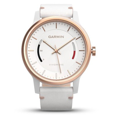 Garmin vivomove SmartwatchSmart Watches<br>Garmin vivomove Smartwatch<br><br>Available Color: Black,White<br>Band material: TPU<br>Band size: 25 x 2.2 cm / 9.84 x 0.87 inches<br>Battery  Capacity: 150mAh<br>Bluetooth Version: Bluetooth 4.0<br>Brand: GARMIN<br>Case material: Metal<br>Charging Time: About 3hours<br>Compatability: Android 4.3 / iOS 7.0 and above system<br>Compatible OS: Android, IOS<br>Dial size: 4.2 x 4.2 x 1.2 cm / 1.65 x 1.65 x 0.47 inches<br>Health tracker: Sedentary reminder,Sleep monitor<br>IP rating: 5 ATM<br>Language: English,Simplified Chinese<br>Operating mode: Press button<br>Other Function: Alarm<br>Package Contents: 1 x Smart Watch, 1 x Chinese and English User Manual<br>Package size (L x W x H): 12.70 x 9.50 x 9.00 cm / 5 x 3.74 x 3.54 inches<br>Package weight: 0.230 kg<br>People: Female table,Male table<br>Product size (L x W x H): 25.00 x 4.70 x 1.00 cm / 9.84 x 1.85 x 0.39 inches<br>Product weight: 0.051 kg<br>Shape of the dial: Round<br>Standby time: About 7 Days<br>Type of battery: Button Battery<br>Waterproof: Yes