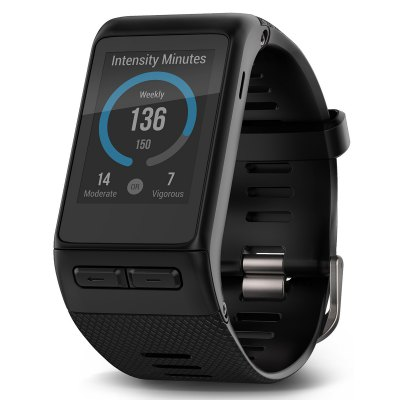 Garmin vivoactive HR Smart WatchSmart Watches<br>Garmin vivoactive HR Smart Watch<br><br>Alert type: Vibration<br>Available Color: Black<br>Band material: TPU<br>Band size: 20 x 2 cm / 7.87 x 0.79 inches<br>Battery  Capacity: 150mAh<br>Bluetooth calling: Answering,Caller ID dispay,Callers name display,Phone call reminder<br>Bluetooth Version: Bluetooth 4.0<br>Brand: GARMIN<br>Case material: ABS<br>Compatability: Android 4.3 / iOS 7.0 and above system<br>Compatible OS: Android, IOS<br>Dial size: 4 x 3.5 x 0.8 cm / 1.57 x 1.38 x 0.31 inches<br>Find phone: Yes<br>Health tracker: Heart rate monitor,Pedometer,Sedentary reminder,Sleep monitor<br>IP rating: 50m Waterproof<br>Language: English,Simplified Chinese<br>Messaging: Message reminder<br>Operating mode: Touch Screen<br>Other Function: WiFi, GPS<br>Package Contents: 1 x Smart Watch, 1 x Chinese User Manual<br>Package size (L x W x H): 15.00 x 7.80 x 6.20 cm / 5.91 x 3.07 x 2.44 inches<br>Package weight: 0.230 kg<br>People: Female table,Male table<br>Product size (L x W x H): 24.00 x 4.10 x 0.80 cm / 9.45 x 1.61 x 0.31 inches<br>Product weight: 0.050 kg<br>Remote control function: Remote music<br>Shape of the dial: Round<br>Type of battery: Button Battery<br>Waterproof: Yes