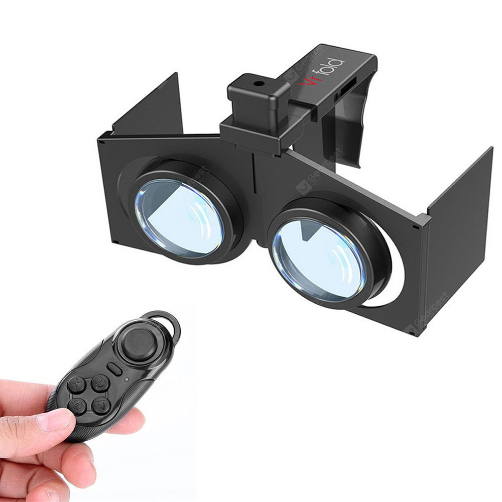 VR Fold V1 3D Virtual Reality Glasses with Remote Controller