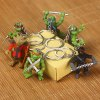 cheap 5cm 6PCs Classic Movie Figure Turtle Style Key Chain